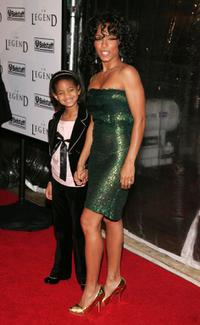 Willow Smith and Jada Pinkett Smith at the premiere of