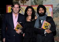 Mortimer Singer, Tina Bhojwani and Waris Ahluwalia at the