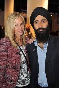 Meredith Melling-Burke and Waris Ahluwalia at the Fashion's Night Out.
