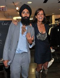 Waris Ahluwalia and Julie Gilhart at the Barneys New York celebration of Fashion's Night Out.
