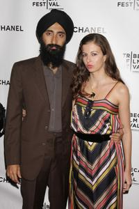 Waris Ahluwalia and director Chiara Clemente at the 2008 Tribeca Film Festival.