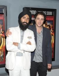 Waris Ahluwalia and director Jordan Galland at the premiere of