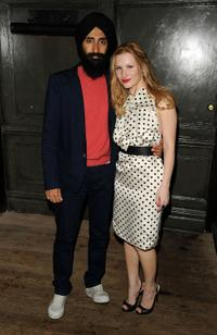 Waris Ahluwalia and Olga Rei at the Art Ruby dinner to celebrate Richard Phillips.