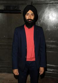 Waris Ahluwalia at the Art Ruby dinner to celebrate Richard Phillips.