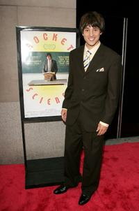 Nicholas D'Agosto at the New York premiere of