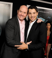 David Koechner and Nicholas D'Agosto at the California premiere of