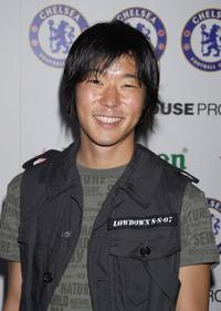 Aaron Yoo at the party of the Chelsea Football Club.