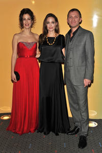 Zana Marjanovic, Angelina Jolie and Goran Kostic at the New York premiere of