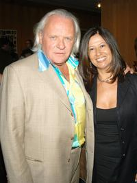 Anthony Hopkins and Stella Arroyave at the after party of the Los Angeles premiere screening of