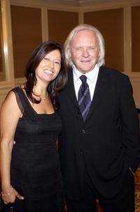 Stella Arroyave and her husband Anthony Hopkins at the 11th Annual St. John's Health Center Caritas Award Gala.