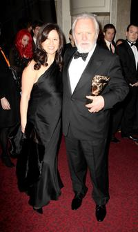 Stella Arroyave and Anthony Hopkins at the after party of the Orange British Academy Film Awards (BAFTAs).