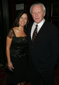 Stella Arroyave and her husband Anthony Hopkins at the premiere of