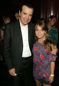 Chazz Palminteri and Julia Garro at the after party of the premiere of