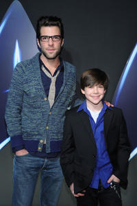 Zachary Quinto and Jacob Kogan at the Paramount Home Entertainment's