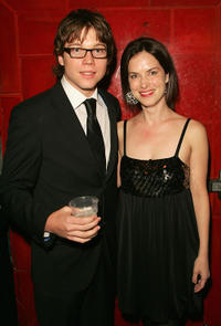 Khan Chittenden and Victoria Hill at the after party of the Australian premiere of