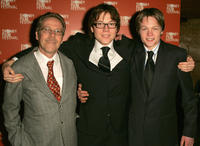 Kevin, Khan Chittenden and Flynn at the Australian premiere of
