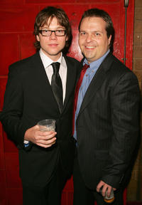 Khan Chittenden and director Dan Kridge at the after party of the Australian premiere of