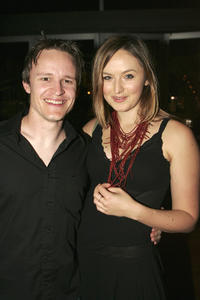 Damon Herriman and Katie Wall at the cocktail party for the launch of