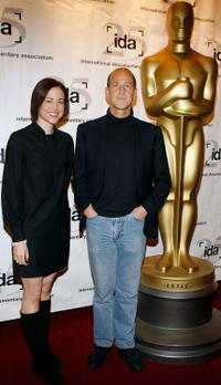 Audrey Marrs and Charles Ferguson at the 26th Annual Academy Awards Documentary Nominees Reception.
