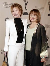 Mary Tyler Moore and Valerie Harper at the Academy of Television Arts and Sciences celebrating Betty White's 60 years on television.
