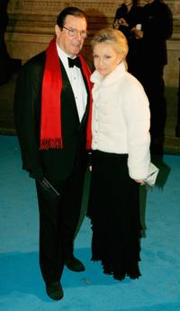Roger Moore and his wife Christina 'Kiki' Tholstrup at the Royal Film Performance and World Premiere of