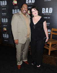 Leslie David Baker and Phyllis Smith at the New York premiere of