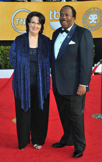 Phyllis Smith and Leslie David Baker at the 17th Annual Screen Actors Guild Awards in California.