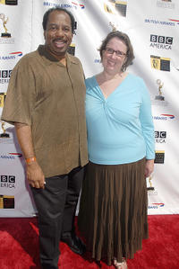 Leslie David Baker and Phyllis Smith at the 5th Annual Primetime Emmy Nominees' BAFTA Tea Party in California.