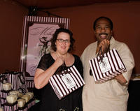 Phyllis Smith and Leslie David Baker at the 6th annual DPA pre-Emmy gift suite day 2 in California.