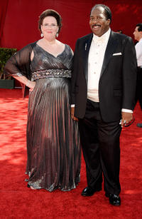 Phyllis Smith and Leslie David Baker at the 61st Primetime Emmy Awards in California.