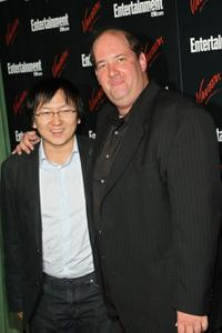 Masi Oka and Brian Baumgartner at the Entertainment Weekly and Vavoom Annual Upfront party.