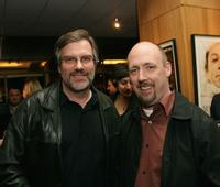 Director Don Hahn and Chris Renaud at the Oscar Shorts reception in California.