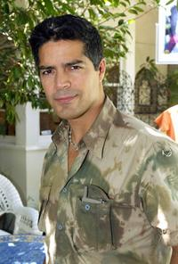 Esai Morales at the Point Du Vue Salon Pre-Emmys day of pampering.