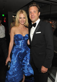 January Jones and Jason Sudeikis at the AMC after party of the 62nd Annual EMMY Awards.