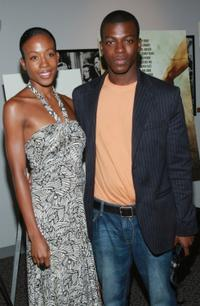 Melissa Hill and Cedric Sanders at the premiere of