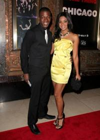 Cedric Sanders and Tiffany Hines at the opening night of