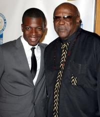 Cedric Sanders and Louis Gossettt Jr. at the 19th NAACP Theatre Awards.