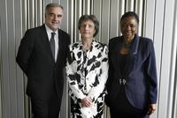 A File Photo of actors Luis Moreno-Ocampo, Silvana Arbia and Hlengiwe Mkhize, dated April 17, 2008.