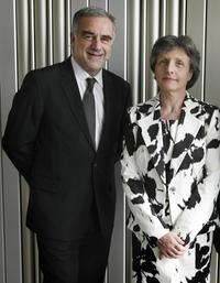 A File Photo of actors Luis Moreno-Ocampo and Silvana Arbia, dated April 17, 2008.