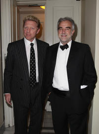 Boris Becker and Luis Moreno-Ocampo at the Cinema for Peace Gala during the day five of the 61st Berlin International Film Festival.