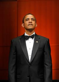 Barack Obama at the Radio and Television Correspondents Association Dinner.