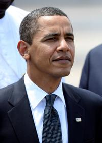 Barack Obama at the meeting of G8 in L'Aquila, Italy.