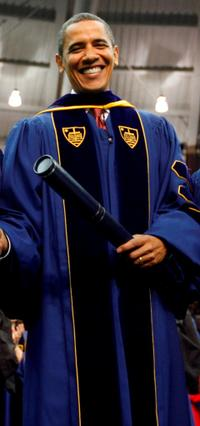Barack Obama at the University of Notre Dame.