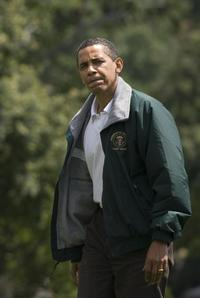 Barack Obama at the Camp David in Washington.