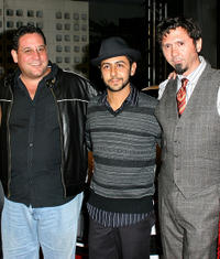Director/editor Raul Marchand Sanchez, Humberto Busto and Rafi Mercado at the opening night gala of premiere of