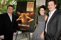 Scott Franklin, Marisa Tomei and director Darren Aronofsky at the AFI Awards 2008.