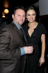 Scott Franklin and Mila Kunis at the after party of the closing night gala of