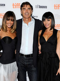 Sharni Vinson, Rob Moran and Wendy Glenn at the premiere of