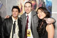 Luis Rosado, Christopher Scott and Mari Koda at the premiere of