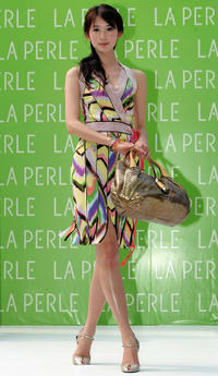 Lin Chiling at the La Perle Spring and Summer Series Fashion Show.